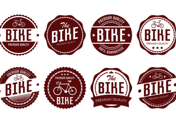 Bicicleta Badge - vector gratuit #414185