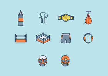 Free Wrestling Icon - Free vector #414225