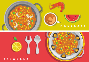 Paella Vector Art - бесплатный vector #414255