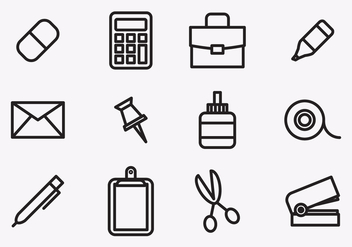 Stationary Icons - vector gratuit #414305