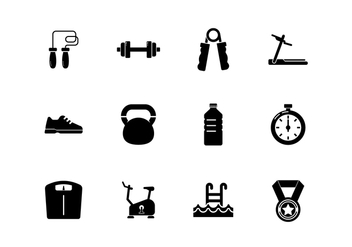 Free Healthy Lifestyle Icons - vector gratuit #414325