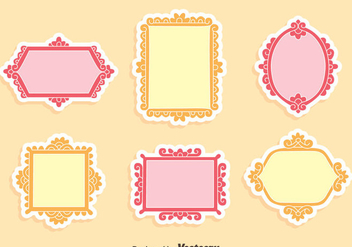 Floral Decoration Frame Vector - vector gratuit #414395