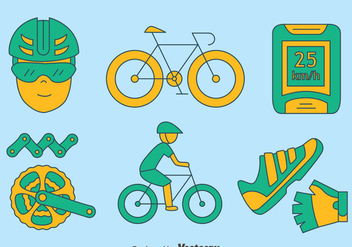 Hand drawn Bicycle Element Vector - бесплатный vector #414425