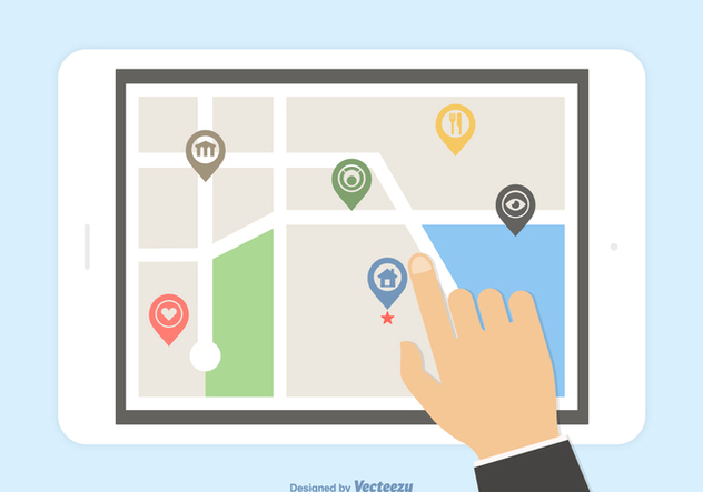 Free Vector Mobile GPS Navigation - Free vector #414475
