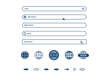 Address Bar Elements - vector gratuit #414635