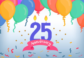 25 Anniversary Illustration - vector #414645 gratis