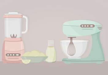 Vector Kitchen Objects - Free vector #414665