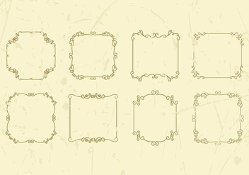Free Decorative Vintage Frame Vector - бесплатный vector #414685