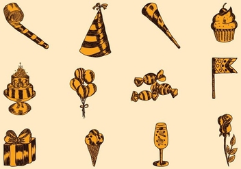 Hand Drawn Party Icon - vector #414815 gratis