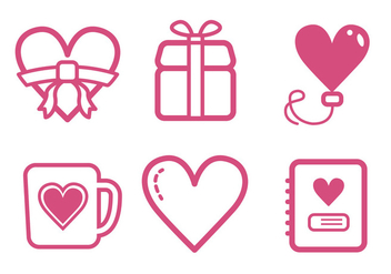 Valentine Icon Set - Free vector #414845