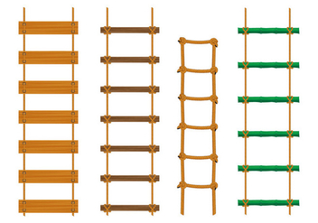 Rope Ladder Vectors - Free vector #414865