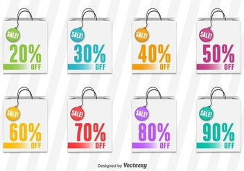 Shopping Bag Sale Vector Tags - Kostenloses vector #414925