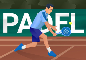 Free Padel Vector Illustration - vector gratuit #414935