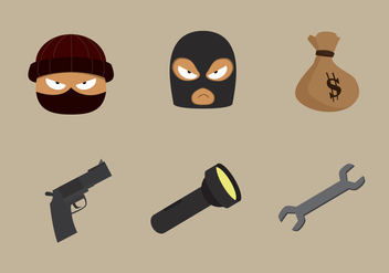 Theft and Robber Vector Stuff - vector gratuit #414945