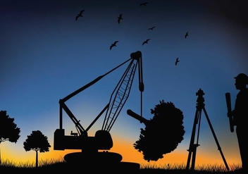 Surveyor Crane Free Vector - бесплатный vector #414955