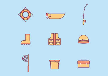 Free Fishing Vector - vector gratuit #415025