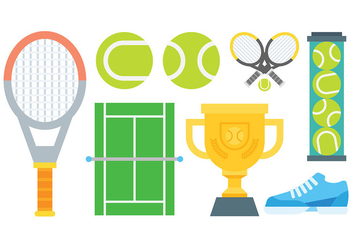 Free Tennis Icons Vector - Free vector #415055