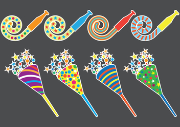 Party Blower Icons - vector #415115 gratis