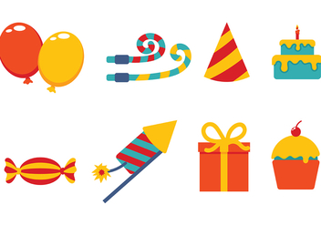 Party Icons Vector - Kostenloses vector #415125