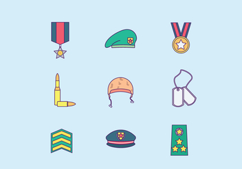Free Military Icons - vector gratuit #415335