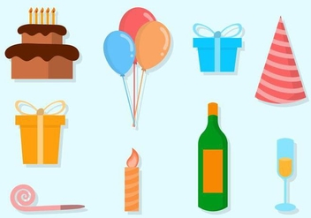 Free Party Vector Icons - vector #415355 gratis