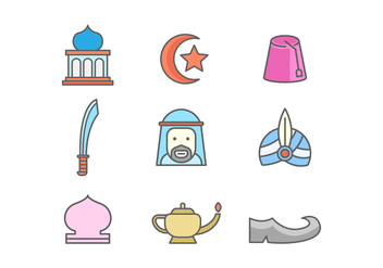 Free Middle East Vector Icons - vector gratuit #415375