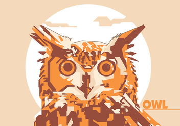 Owl - Animal Life - Popart Portrait - бесплатный vector #415415