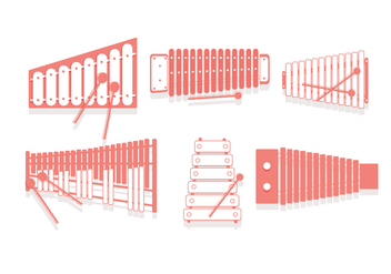 Marimba Top View Vector - бесплатный vector #415525