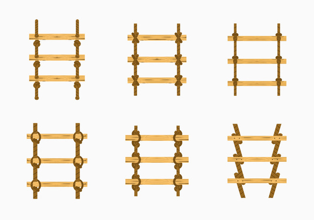 Rope Ladder Knot Wood Stairs Vector Stock   Free Vector #415595