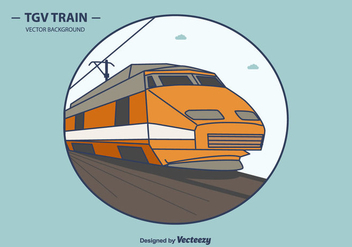 Tgv Vector Background - vector gratuit #415605