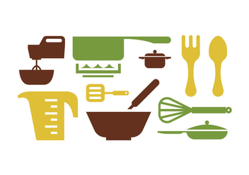 Kitchen tools - vector gratuit #415695