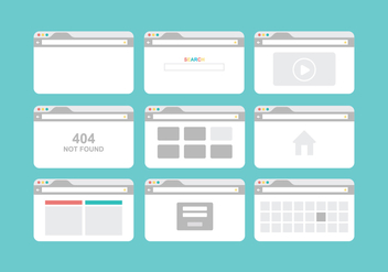 Free Browser Vector Pack - бесплатный vector #415745