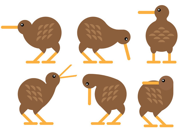 Free Kiwi Bird Icons Vector - бесплатный vector #415775