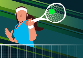 Woman Tennis Player - Kostenloses vector #415815