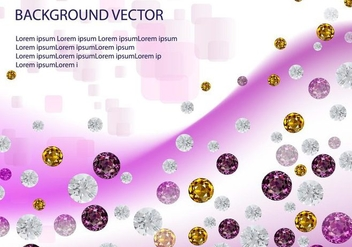 Rhinestone Diamond background vector - Free vector #415845