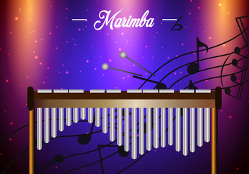 Marimba Template Background - vector gratuit #415855