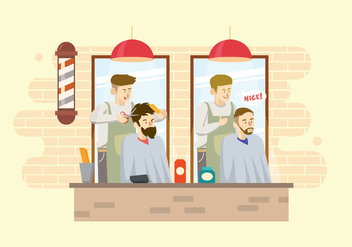 Free Barber Illustration - бесплатный vector #415875