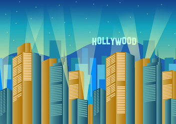 Wallpaper Of Hollywood Lights - бесплатный vector #415945