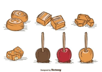 Hand Drawn Toffee Vector - vector gratuit #416125