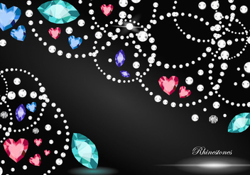 Rhinestone Background - Free vector #416165