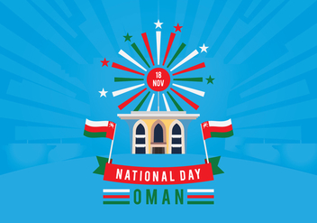 Sultanate of Oman National Day - бесплатный vector #416205