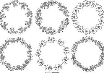 Cute Sketchy Floral Frames - Free vector #416235