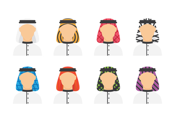 Free Arabian Man Avatars - vector #416245 gratis
