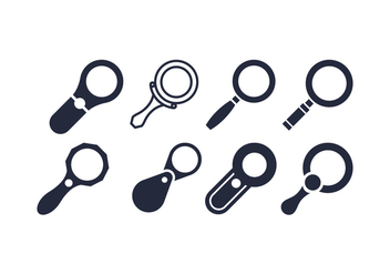 Magnifying glass vectors - vector gratuit #416345