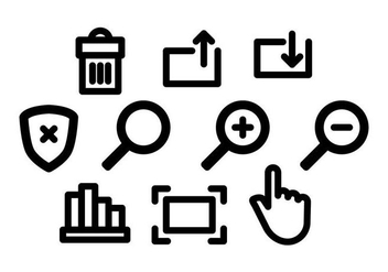 Free Website Icons Vector - Kostenloses vector #416385