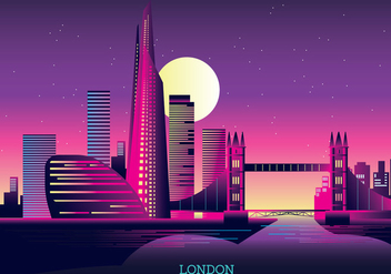 Vector Illustration The Shard and The London Skyline - Free vector #416405