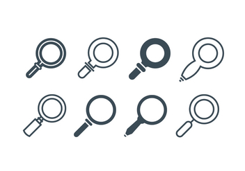 Magnifying glass icons - vector gratuit #416455