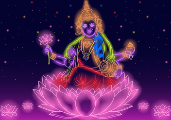Indian Goddess Lakshmi - Free vector #416465
