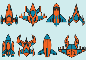 Starship Icons - Free vector #416485