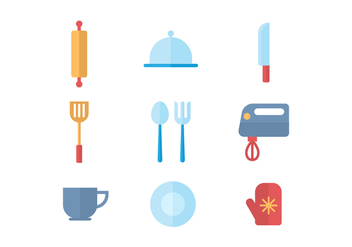 Free Kitchen Utensils Vector - vector gratuit #416505